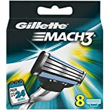 Gillette Mach 3 Manual Razor Blades - Pack of 8