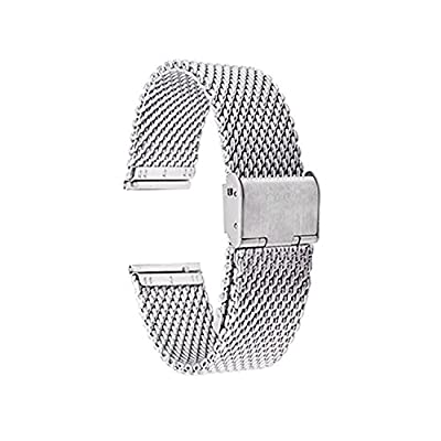 20mm Pebble Time Round Watch Band , EXMART Milanese Loop Stainless Steel Watch Band Strap for 20mm Pebble Time Round
