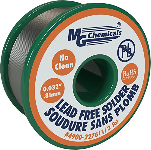 mg-chemicals-4900-sac305-963-tin-07-copper-3-silver-no-clean-lead-free-solder-0032-diameter-1-2-lbs-