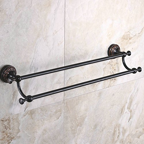 hiendurer-24-inches-solid-brass-double-towel-bar-oil-rubbed-bronze-finish-