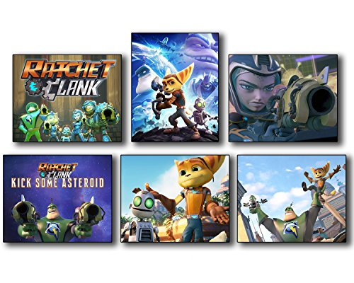 Ratchet and Clank (2016) Movie Photos - Set of 6 Mini Poster Wall Art Photos (Cool Video Game Merchandise compare prices)