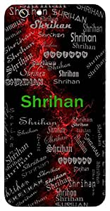 Shrihan (Lord Vishnu) Name & Sign Printed All over customize & Personalized!! Protective back cover for your Smart Phone : Samsung Galaxy E5