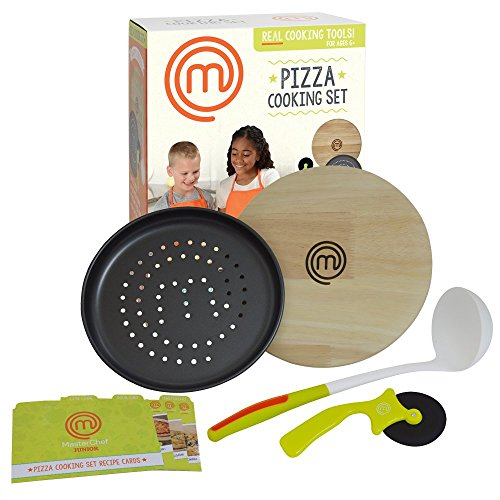 MasterChef Junior Pizza Cooking Set - 5 Pc Kit Includes Real Cookware for Kids and Recipes (Cooking Kids Set compare prices)