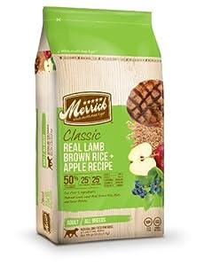 Merrick Classic 30-Pound Adult Real Lamb, Brown Rice and Apples Dog Food, 1 Bag