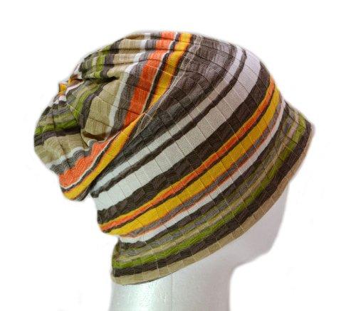 ナイトキャップ 日本製 コットン100% ルームキャップ 室内帽子 帽子 高級 綿 おしゃれ デザイン 柔らか素材 ねぐせ 寝癖 ストライプ 縞