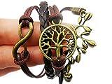 TAZOY Hippy Wishing Tree Life Friendship Karma Wish Hope Love Peace Bracelet Boho