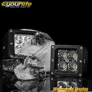 Led Light Bar With Wiring Harness Kit,Eyourlife 2PCS 20W 3.2 ... on off-road light bars, lag bolting down light bars, lihgt and police lights bars,