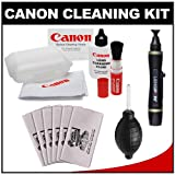 Canon Optical Digital Camera & Lens Cleaning Kit (Brush, Fluid & Tissue) with Lenspen + Blower + 6 Microfiber Cleaning Cloths for EOS 1D X, 1Ds Mark II, III, IV, 60D, 5D, 6D, 7D, Rebel T2i, T3, T3i & T4i