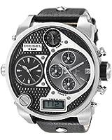 Diesel DZ7125 Mr Daddy Large Round Leather Strap Watch, Black 031