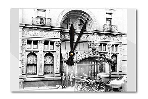 entrance-to-the-waldorf-astoria-hotel-nyc-photo-acrylic-wall-clock