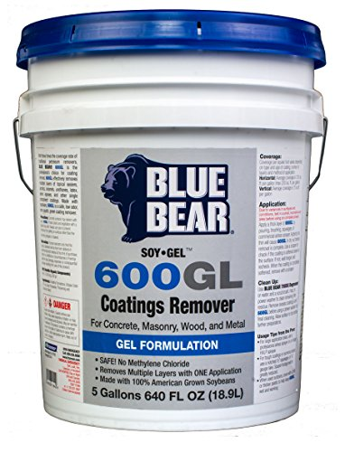 BLUE BEAR 600GL Coatings Remover 5 Gallon by Franmar (Concrete Sealer Remover compare prices)