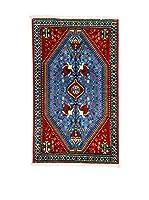 L'Eden del Tappeto Alfombra Abadeh Rojo / Azul 75 x 124 cm