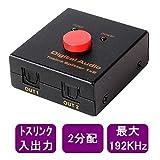 デジタル音声 トスリンク/SPDIF 1対2分配器【TOS-Sp12】