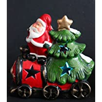 Light up Christmas Ornament Santas Train Batteries Included!