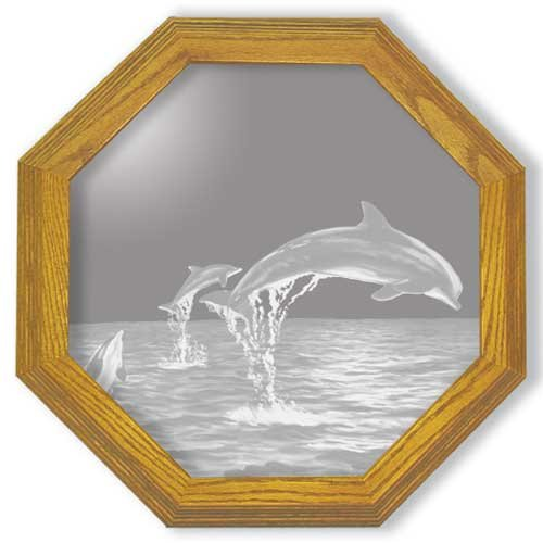 Buy Decorative Framed Mirror Wall Decor With Dolphin Etched Mirror - Dolphin Decor - Unique Dolphin Gift Ideas - ReadyB0000V5RKM Filter
