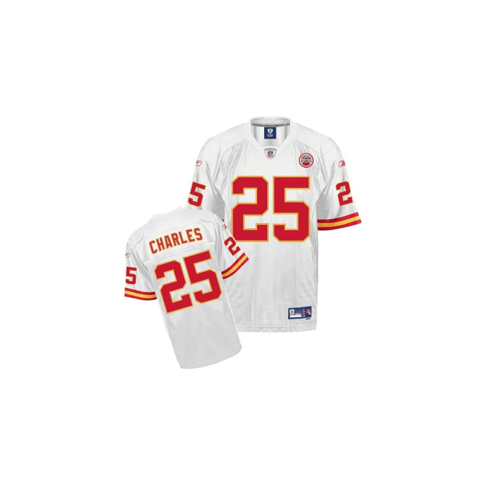 Reebok Kansas City Chiefs Jamaal Charles Premier White Jersey