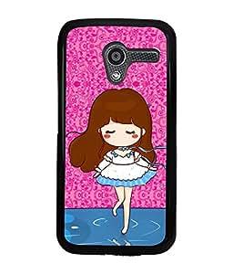 Fuson 2D Printed Girly Designer back case cover for Motorola Moto X - D4582