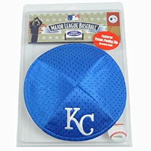 MLB Kansas City Royals Clip Pro Kippah Yamaka Jersey Mesh Licensed Yarmulke by Emblem Source