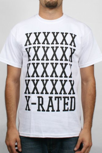 10 Deep - X Rated Mens T-Shirt in White, Size: XX-Large, Color: White