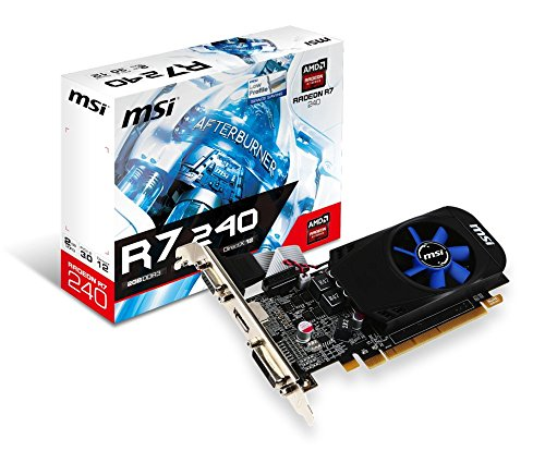 MSI Computer Radeon R7 240 2GB DirectX 12 Low Profile 4K Resolution Support Graphics Card R7 240 2GD3 LPV6
