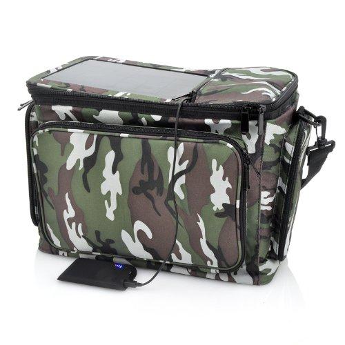 Thermal Bag With Solar Panel - 2200Mah Back-Up Battery, Camo Print