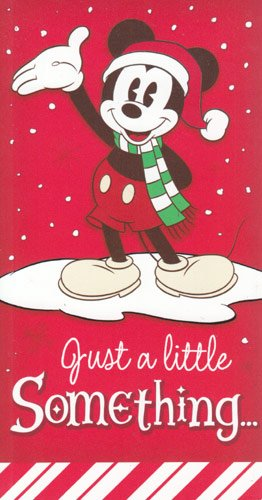Greeting Christmas Card Gift Card Holder Disney