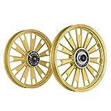 Kingway JS2K Zipp Bike Alloy Wheel Set of 2 19/19 Inch Golden-Royal Enfield Electra