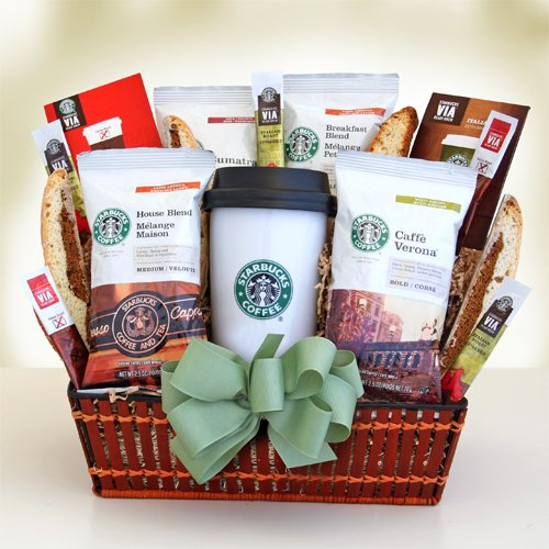 Starbucks on the Run Coffee Variety Gift Set | Coffee Gift Basket for the Avid Coffee Drinker! | Organic Stores Gift Baskets
