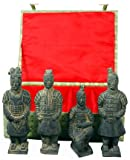 Best Gift Ideas for Him Father Dad - Set of 4 Chinese Terra Cotta Xian Warriors Statues