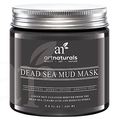 Art Naturals Dead Sea Mud Mask for Face, Body & Hair 8.8 oz, 100% Natural and Organic Deep Skin Cleanser - Clears Acne, Reduces Pores & Wrinkles - Ultimate Spa Quality -Mineral Infused, Additive Free (Dead Sea Salt Psoriasis Cream compare prices)