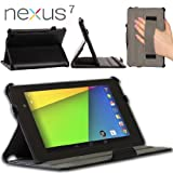 Blurex Ultra-Slim Case for New Nexus 7 FHD 2nd Gen Tabet Black - With Smart Cover Auto Wake / Sleep Feature