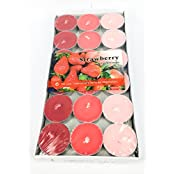 Lovely Strawberry Scented Tea Light Candle. (Set Of 36)