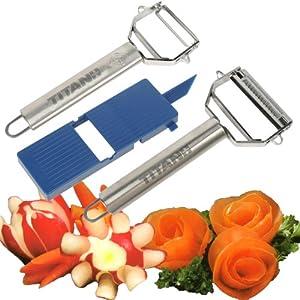Trademark Titan Peeler Plus Julienne Tool and Slicing Board