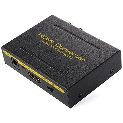 XCSOURCE Extracteur Convertisseur HDMI vers HDMI Audio 1080P SPDIF Optique RCA L/R Audio Adaptateur Séparateur AC277