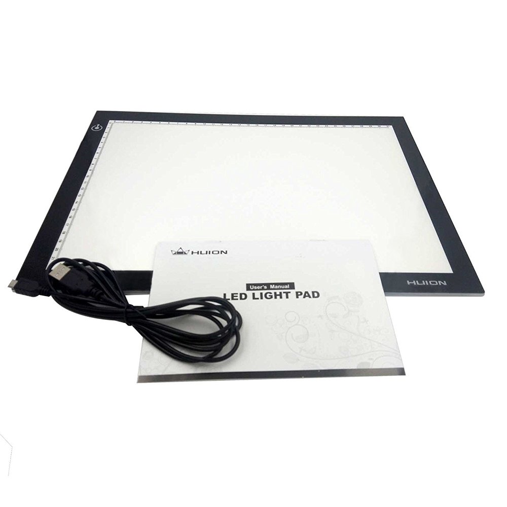 "Huion L4S 17.7"" Ultra Thin 5mm LED Light Box Pad Tracing Board Table for Drawing Stencil Tattoo"