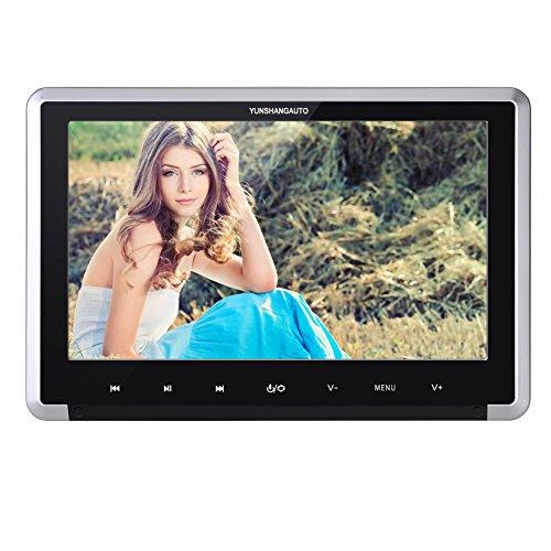 Yunshangauto-101HD-1080P-30Fps-Kopfsttzenmonitor-Kopfsttze-Auto-DVD-Player-Monitor-Ultra-Dnn-Digital-TFT-LCD-Bildschirm-mit-HDMI-Anschluss-und-Fernbedienung-Untersttzt-CPRMTouch-Taste
