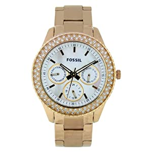Fossil Women's ES2861 Stainless Steel Analog with White Dial Watch