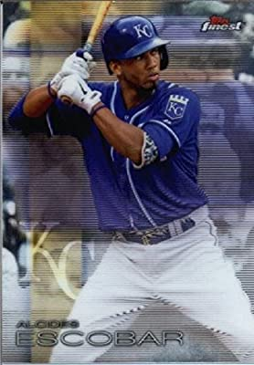 2016 Finest #62 Alcides Escobar Kansas City Royals Baseball Card