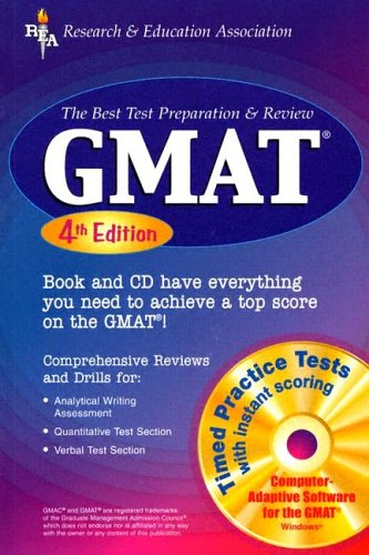 GMAT w/CD-ROM 4th Ed. (REA) - The Best Test Prep & Review (GMAT Test Preparation)
