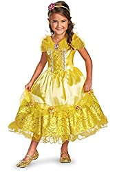 Disguise Disney's Beauty and The Beast Belle Sparkle Deluxe Girls Costume, 4-6X