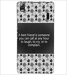 PrintDhaba Quote D-4681 Back Case Cover for LENOVO A7000 PLUS (Multi-Coloured)