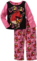 Angry Bird Girls 2-6X Wake Up Angry Bird 2 Piece Pajama Set, Multi, 8