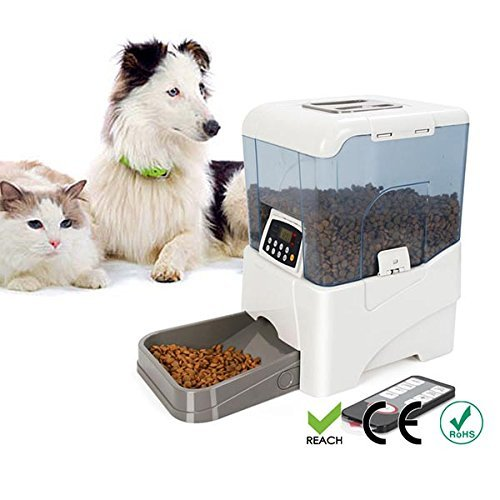 topPets PF-21B Remote Controlled Automatic Pet Feeder Programmable LCD Control with DC adapter