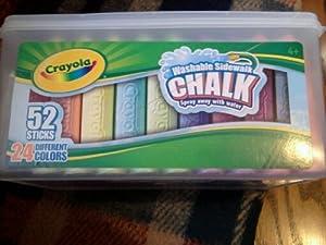 Crayola Sidewalk Chalk 52ct. Bucket Crayon Shape