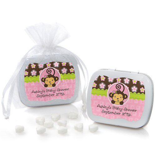 Baby Shower Min Tins - Monkey Girl front-726991