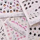 MyGal Helloween Theme Holiday 3D Nail Art Mixed Styles Stickers 6 Sheets