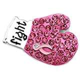 Soulbreezecollection Pink Ribbon Fighting Boxing Gloves Breast Cancer Awareness Brooch Pin Charm Jewelry
