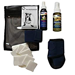 HEALERS PETCARE First Aid Essentials Kit with VetEssentials Spray for Pets, Soft Case, Large