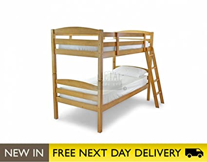 Metal Beds Ltd 3ft Bunk Bed Maple Wooden - Moderna bunk