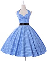 Threeseasons Women Vintage Dresses Polka Dots 50s Rockabilly Wiggle Party Dress